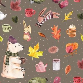 Cozy Autumn on Grey