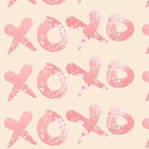 XOXO Pink Paint Splatter
