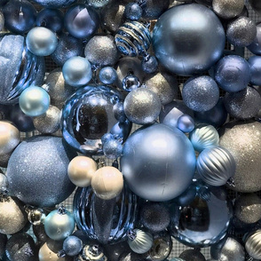 Holiday  silver-blue balls