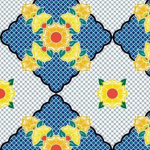Flower Line Marigold Continuous