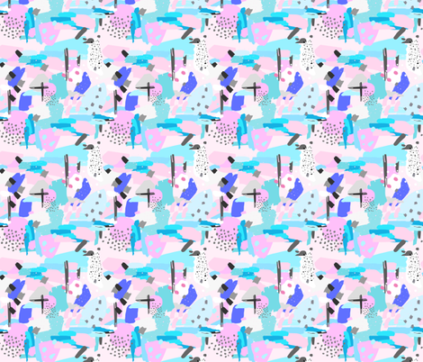 That's SO 80's abstract color pop fabric by lub_by_lamb on Spoonflower - custom fabric