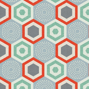 hexagon 4b-mid century modern
