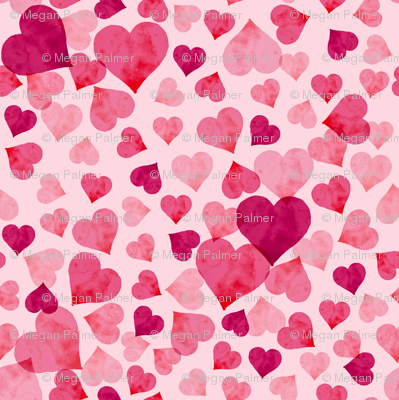Hearts- Pink