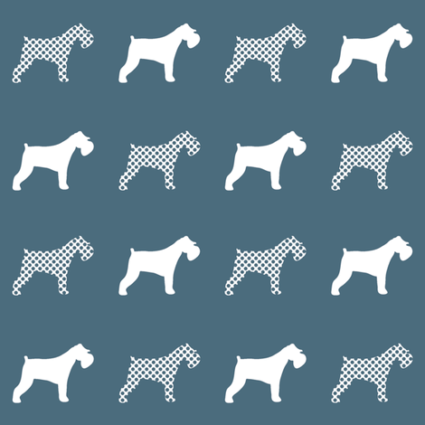 Miniature Schnauzer polka dogs fabric by booboo_collective on Spoonflower - custom fabric