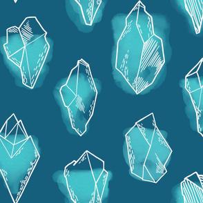 Polar Gems Large Scale /Teal
