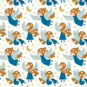Angels in the sky blue (small)