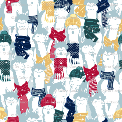 Happy llamas Christmas Choir I  // large scale