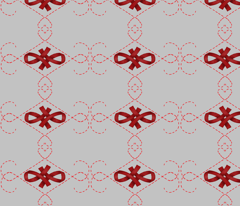 Red Ribbon fabric by anayawa on Spoonflower - custom fabric
