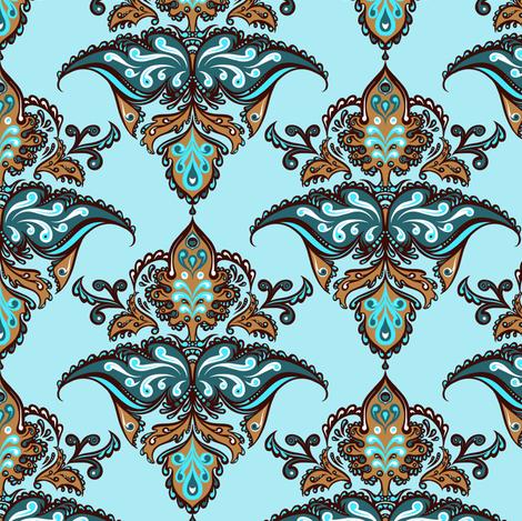 Coordinating Damask 1 fabric by jadegordon on Spoonflower - custom fabric