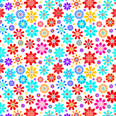 Graphical Florals 11 fabric by jadegordon on Spoonflower - custom fabric