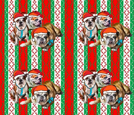 Christmas bulldogsdone fabric by dogdaze_ on Spoonflower - custom fabric