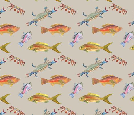 Heather's fish_Tshirt fabric fabric by erica_lindberg_designs on Spoonflower - custom fabric