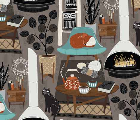 Scandinavian Hygge fabric by michaelzindell on Spoonflower - custom fabric