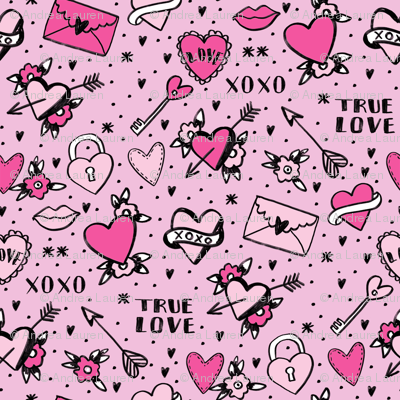 retro tattoos // hearts tattoos stickers love valentines day pink