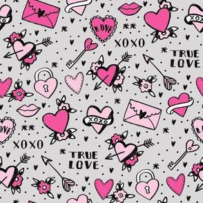 retro tattoos // hearts tattoos stickers love valentines day grey