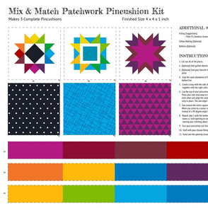 Mix and Match Pincushion Cut and Sew Kit