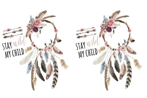 "27""x36"" // Stay Wild My Child fabric by hipkiddesigns on Spoonflower - custom fabric"