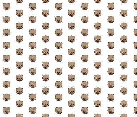 Bear Pattern fabric by mintparcel on Spoonflower - custom fabric