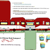 Cut and Sew Little Red Camper Trailer