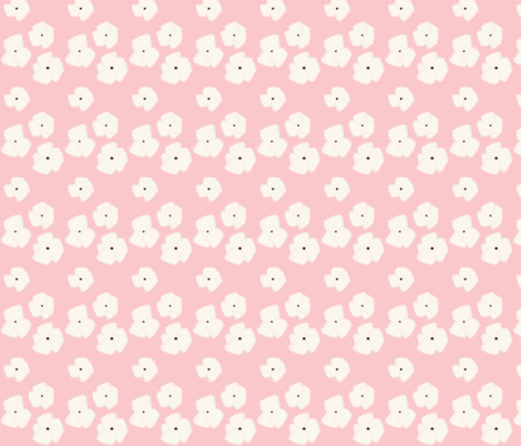 poppy bouquet 259 - cream pink fabric by drapestudio on Spoonflower - custom fabric