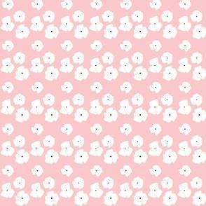 poppy bouquet 259 - white pink