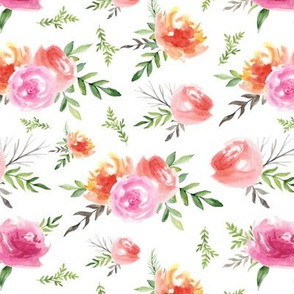 Vintage roses. Bright pattern