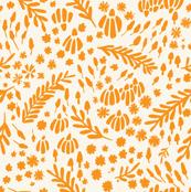 Alice in Dreamland_flower fields duo color blend orange