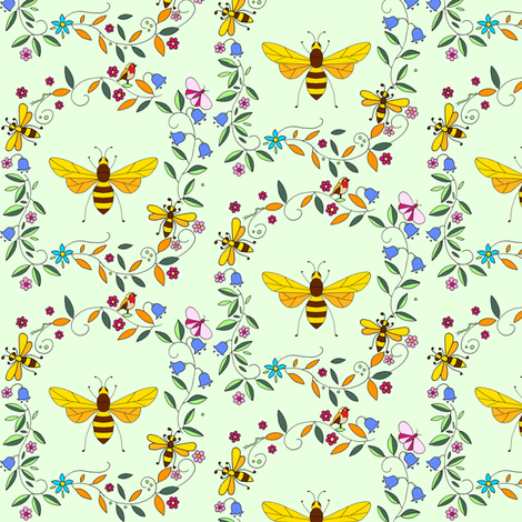 Bumblegreen fabric by de-ann_black on Spoonflower - custom fabric