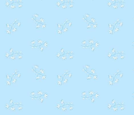 Heather, Blue fabric by de-ann_black on Spoonflower - custom fabric