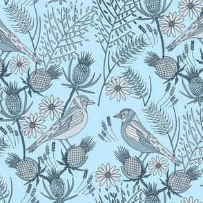 Thistle Birds, Blue