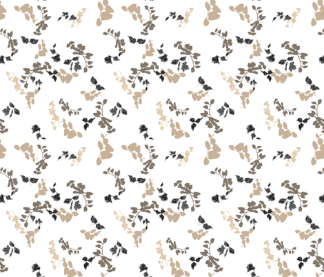 beige foliage fabric by t_textile_design on Spoonflower - custom fabric