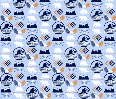 Jurassic Kyan fabric by dualsunsdesign on Spoonflower - custom fabric