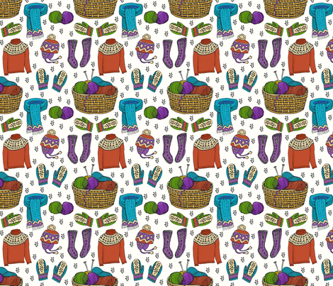 hygge bright knits 6x6 fabric by leroyj on Spoonflower - custom fabric