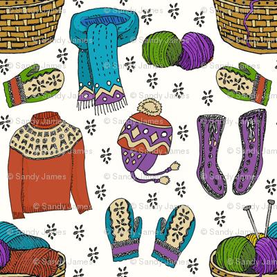 hygge bright knits 8x8