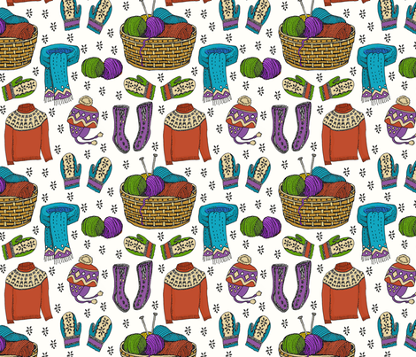 hygge bright knits 8x8 fabric by leroyj on Spoonflower - custom fabric