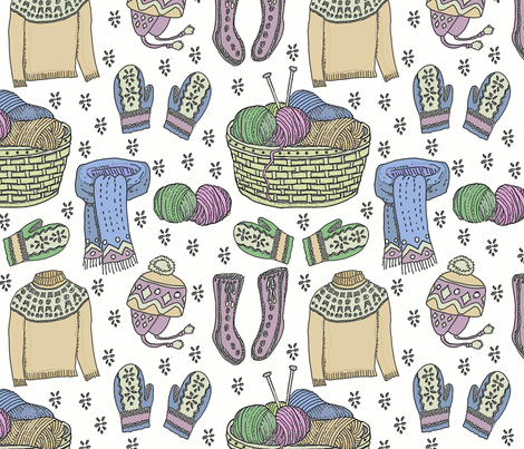 hygge soft knits fabric by leroyj on Spoonflower - custom fabric