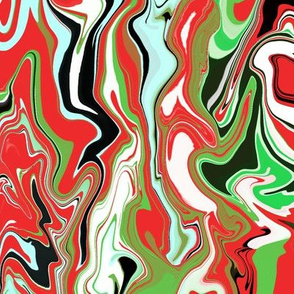 Christmas marbled swirl