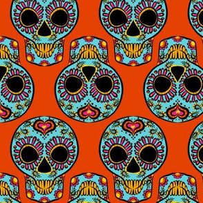 Calavera on Orange