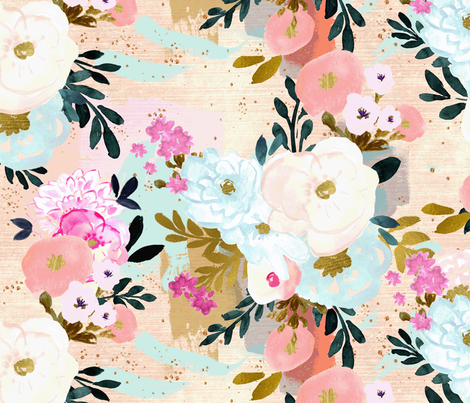 florence painterly floral fabric by crystal_walen on Spoonflower - custom fabric
