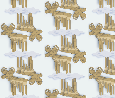 Caribou to you fabric by twilfley on Spoonflower - custom fabric