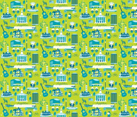 Appleton, Lime, medium fabric by cindylindgren on Spoonflower - custom fabric