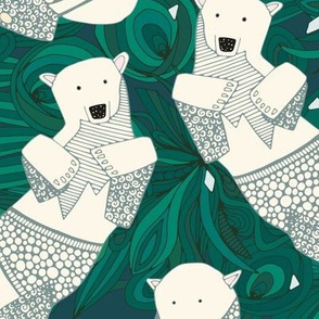 arctic polar bears green