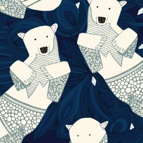 arctic polar bears midnight