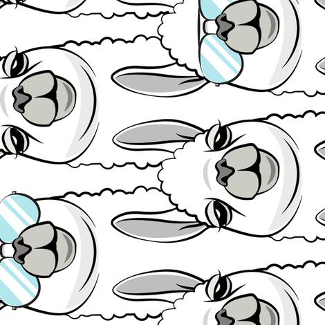 (jumbo scale) one cool llama (90) fabric by littlearrowdesign on Spoonflower - custom fabric