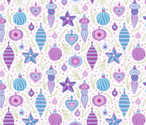 Joyful Tree Trimmings: Playful Pastel fabric by moonpuff on Spoonflower - custom fabric