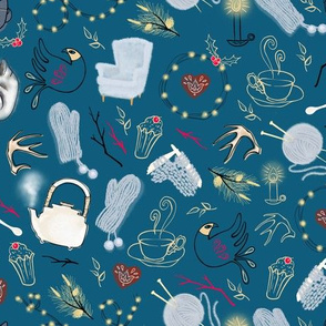 Hygge cosy evening / Teal