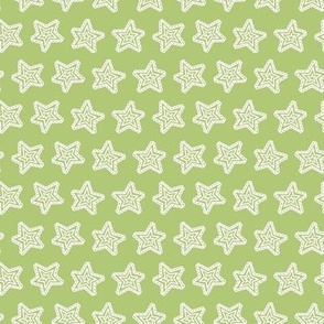 Lacy Holiday Stars: Playful Pastel