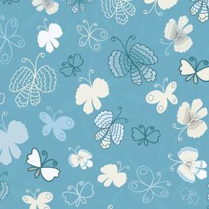 Butterflies-Blue