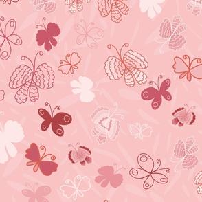 Butterflies-Dark Pink