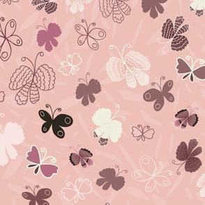 Butterflies-Medium Pink